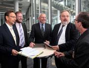 """Auf Einladung der Deutschen Post diskutierten am 8. August 2012 Experten in Bonn über das Thema """"Behördenkommunikation 2020 – E-Government und Bürgernähe vereinen""""."""
