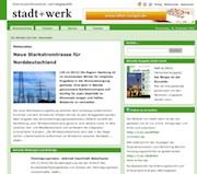 Die Website der Zeitschrift stadt+werk in neuem Design.