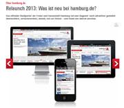 Hamburg: Website für stationäre und mobile Geräte optimiert.