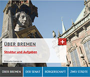 Bremen erweitert das Informationsangebot auf seiner Website.