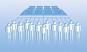 Über Crowdfunding-Plattformen können sich Investoren auch an Erneuerbare-Energien-Projekte beteiligen.