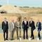 Vertreter von NEW Re, BMR Windenergie und der Stadt Geilenkirchen beim Spatenstich zum Bau des Windparks Geilenkirchen.