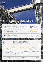 App zeigt Stromverbrauch im Berliner Bezirk Steglitz-Zehlendorf.