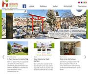 Die Stadt Hofheim hat ihren Internet-Auftritt einem Relaunch unterzogen.
