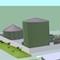 Die Bioabfallvergärungsanlage im 3D-Modell: Die Gärreste erreichen eine Reinheit von mehr als 99,5 Prozent.