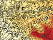 Eine mit WIND-AREA erzeugte Karte zeigt die Windgeschwindigkeit in Bodennähe.