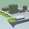 Bioenergiezentrum Hochfranken im Modell: Ende des Jahres 2014 soll eine große Anlage zur Bioabfallvergärung in Betrieb gehen.