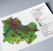 Das Klimakataster der Stadt Neuss zeigt schutzwürdige Freiräume.