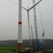 Windpark Altertheim: Die letzte Sternmontage erfolgte bei trübem Wetter.