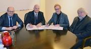 Unterzeichnung des neuen Konzessionsvertrages im Rathaus von Werdohl.