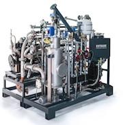 Das Mikro-Kraftwerk E3 kann aus bisher ungenutzter fester Biomasse und regenerativen Abfallstoffen Energie erzeugen.