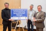 Die Stadt Tübingen wird mit dem European Energy Award ausgezeichnet.
