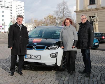 Die Magdeburger Stadtverwaltung testet im Projekt Shared E-Fleet die Elektromobilität.