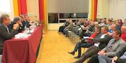 Rund 50 Kommunalpolitiker informierten sich über die Kooperationslösung zur Neuausrichtung der Energieversorgung in der Region Marburg.