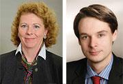 Claudia Koll-Sarfeld ist Vorstandsmitglied der Einkaufsgenossenschaft KoPart. André Siedender ist dort Projektleiter.