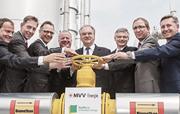 Biogas marsch: Inbetriebnahme der Biomethan-Anlage in Staßfurt.