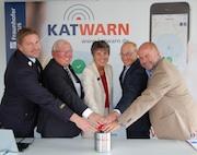 Offizieller Startschuss für die Smartphone-App KATWARN in Bayreuth.