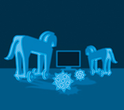 Trojaner und andere Schädlinge bedrohen IT-Netzwerke.
