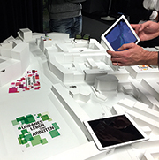 Augmented Reality hilft, städtebauliche Modelle besser zu verstehen.