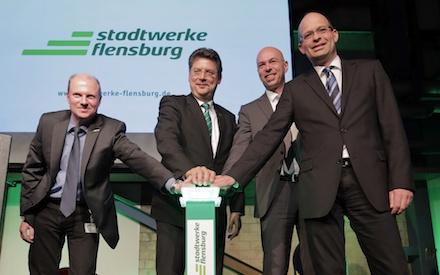 Startschuss: Die neue Gas- und Dampfturbinenanlage (GuD) der Stadtwerke Flensburg produziert ab jetzt Strom und Fernwärme.