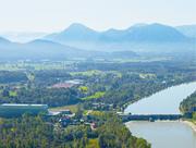 Laufkraftwerk bei Rosenheim: Verbund betreibt 22 Wasserkraftwerke an Inn und Donau.