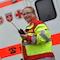 Würzburg: Rettungssanitäter Dominik Heger und Rettungssanitäterin Heike Marquardt testen die neuen digitalen Funkgeräte.