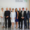 Annegret Kramp-Karrenbauer, Ministerpräsidentin des Saarlands, und die sieben Mitglieder des Digitalisierungsrats.