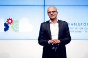 Satya Nadella in Berlin: Microsofts Cloud-Architektur ist der weltweit erste Supercomputer.