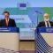 Maroš Šefčovič, Vizepräsident für die Energieunion and Miguel Arias Cañete, Kommissar für Klimapolitik und Energie, stellen das EU-Energiepaket vor.