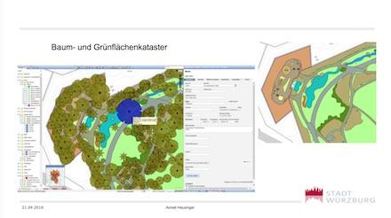 Die Würzburger haben nicht nur unterschiedlichste Kleinkataster geschaffen, sondern auch das Baum- und Grünflächenkataster in INGRADA Web implementiert.