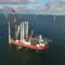 Der Offshore-Windpark Sandbank ist vollständig, alle Anlagen sind errichtet.