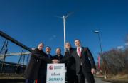 Erster Windpark im Hamburger Hafen wurde in Betrieb genommen.