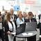 Innenstaatssekretärin Katrin Lange (dritte von links) hat auf der CeBIT weitere Kommunen für das Bürgerportal Maerker freigeschaltet.