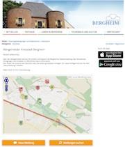 Die Stadt Bergheim hat nun einen eigenen Mängelmelder.