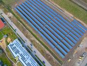 Installation einer 750-kWp-Anlage in Achim, Niedersachsen.