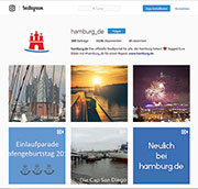 Hamburg ist auch auf Instagram aktiv.