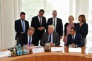 Ein Memorandum of Understanding unterzeichnen die Initiatoren der Allianz Smart City Dortmund.