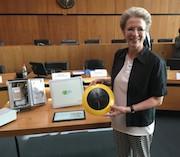 Sensoren in der Reutlinger Innenstadt sollen neue Daten liefern, erklärt Oberbürgermeisterin Barbara Bosch.