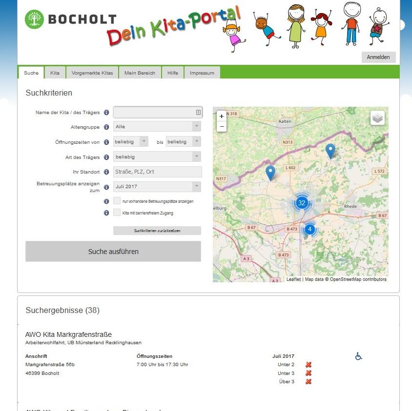 Auf dem Kita-Portal können sich die Eltern durch das Angebot der Stadt klicken.
