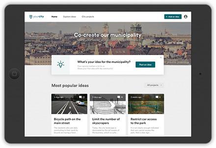 Startseite der Plattform CitizenLab.