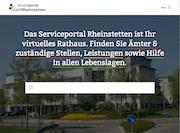 Die Stadt Rheinstetten präsentiert ihr neues Bürgerserviceportal.