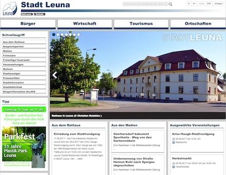 Die neue Website der Stadt Leuna ist seit August online.