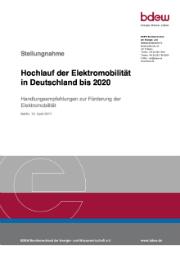 BDEW-Handlungsempfehlung zur Förderung der Elektromobilität.
