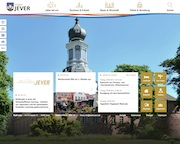 Die Stadt Jever präsentiert ihre neue Website.