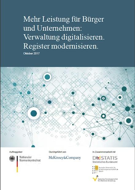 In seinem Gutachten fordert der Nationale Normenkontrollrat eine Modernisierung der Registerlandschaft in Deutschland.