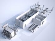 Gleichstromübertragungssystem für die Mittelspannung: Modell einer MVDC-PLUS-Konverterstation.