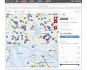 Alle staatlichen Schulen in Hamburg lassen sich jetzt auf einer virtuellen Karte anzeigen.