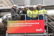 Rund vier Millionen Euro hat der Bremer Versorger swb in den Bau eines Wärmespeichers im Heizkraftwerk Hastedt investiert.