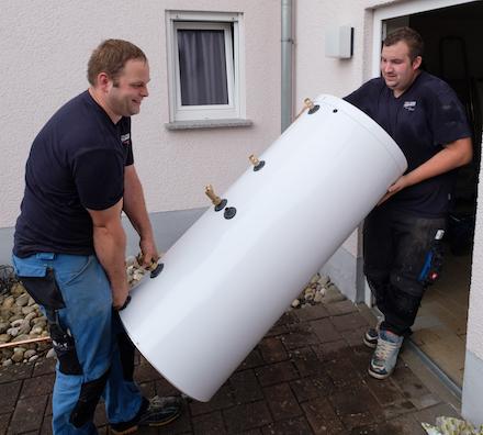 Raustauschwochen: Rund 900 Haushalte aus dem evm-Versorgungsgebiet haben ihre Heizungsanlage erneuert.