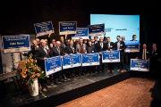 Gruppenfoto der mit dem European Energy Award 2017 ausgezeichneten Kommunen mit NRW-Wirtschaftsminister Professor Andreas Pinkwart.